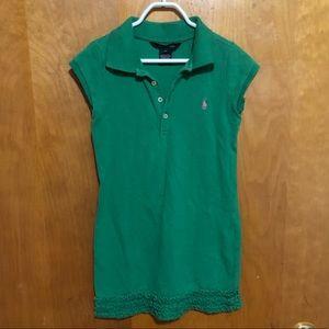 Ralph Lauren Green Girls Ruffle Dress Size 6